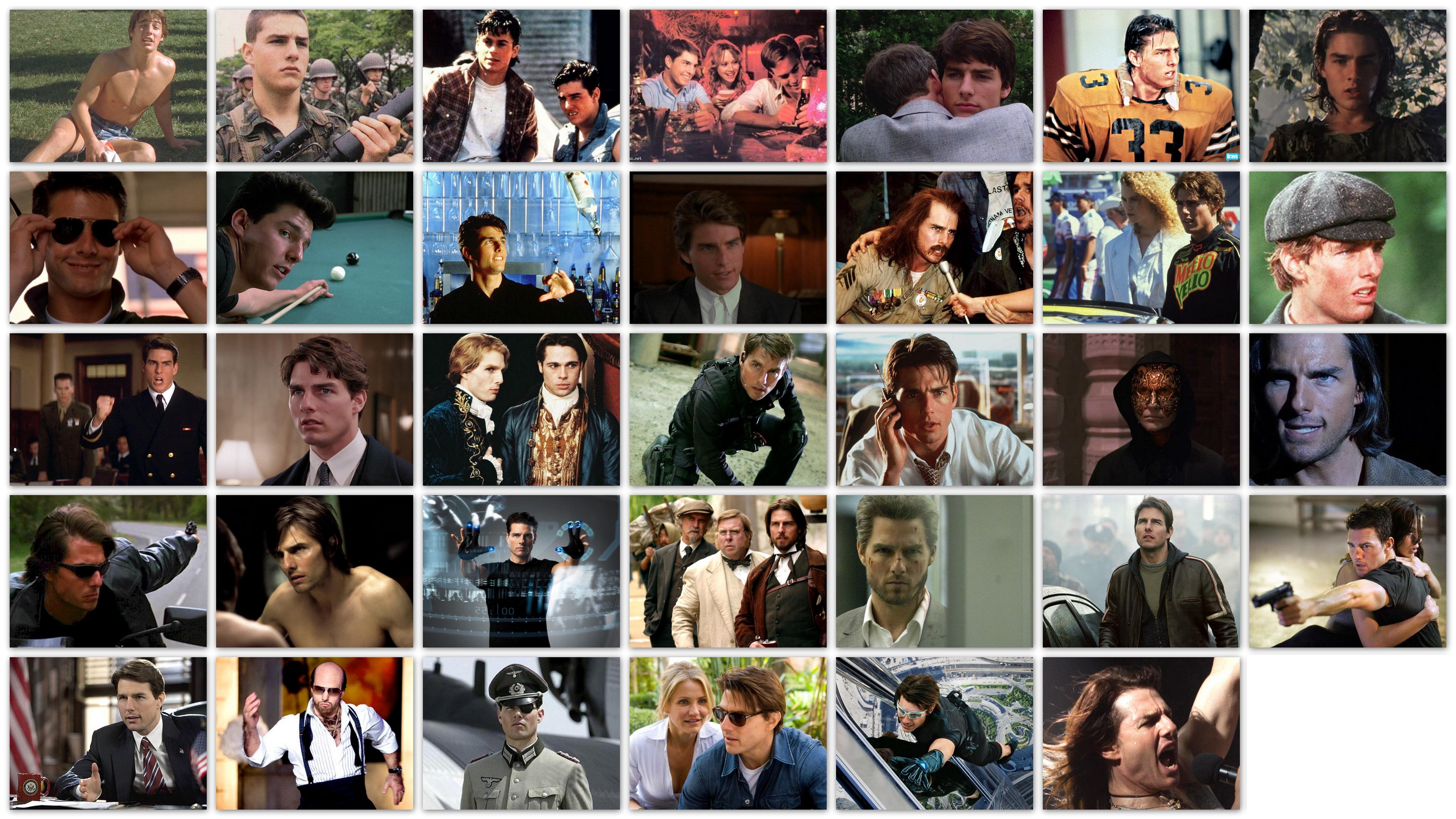 Overzicht van de rollen van acteur Tom Cruise