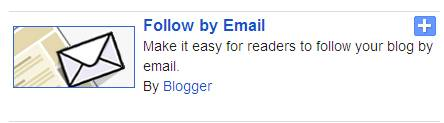 how to add follow by email blogger